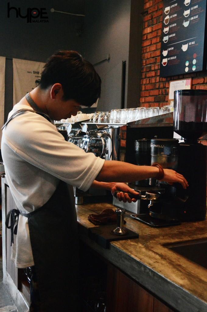 Eric Nam as barista