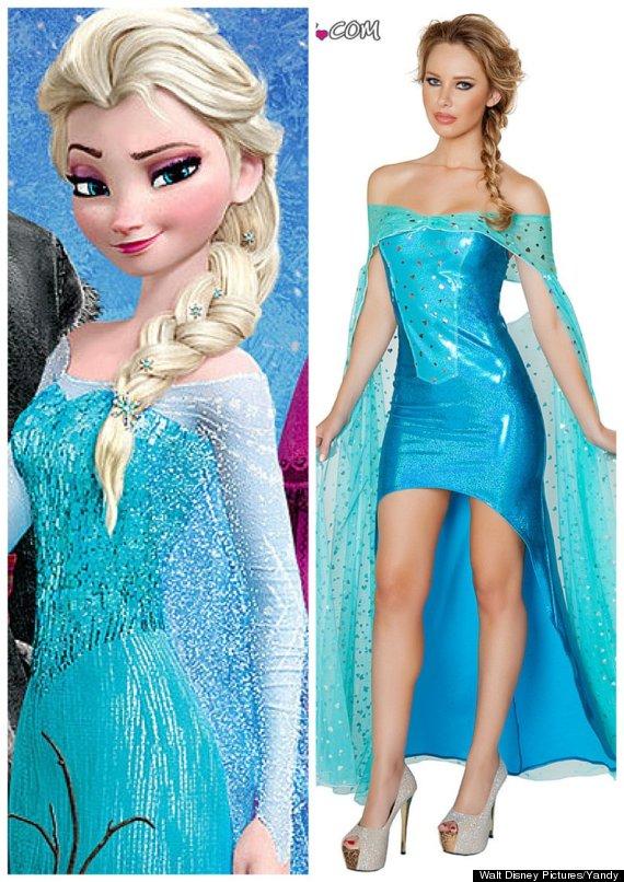 Forzen Elsa Halloween Costume