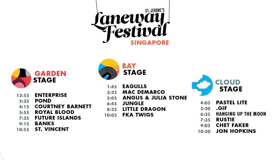 Laneway Festival Singapore 2015 Schedule
