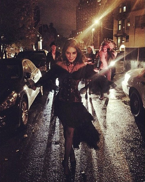 Vanessa Hudgens Vampire NYC Halloween 2013