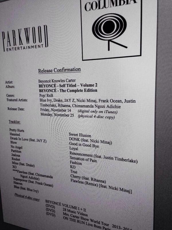 Beyonce Self Titled Album 2