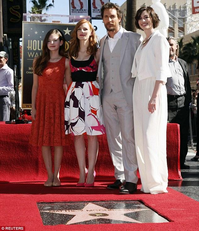 Interstellar Cast Matthew McConaughey Hollywood Walk of Fame