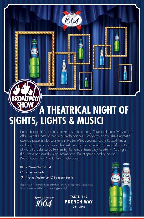 Kronenbourg 1664 Broadway Night - EDM
