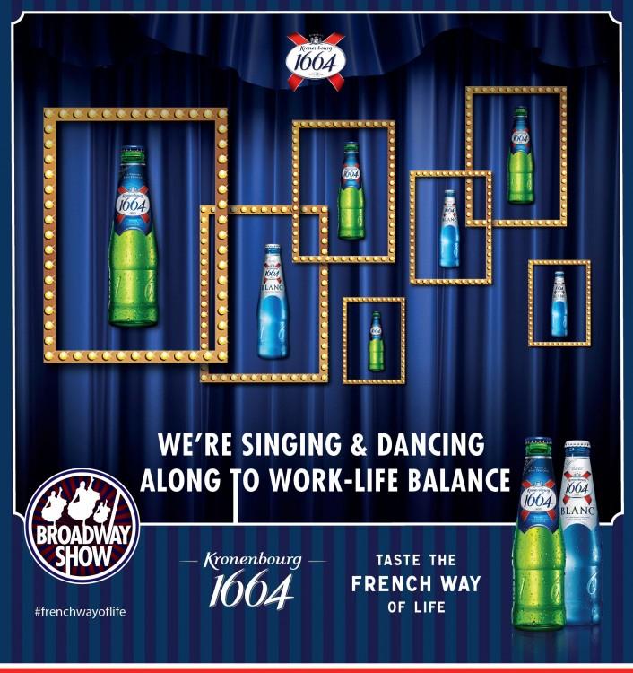 Kronenbourg 1664 Broadway Night - photo
