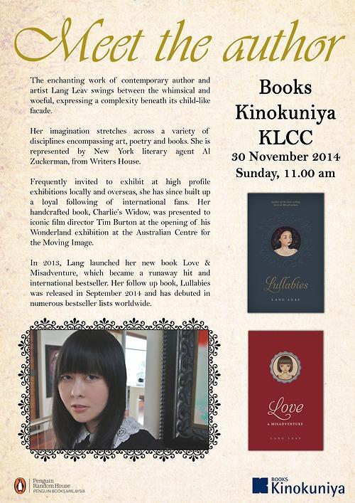 Lang Leav Kinokuniya Malaysia 2014