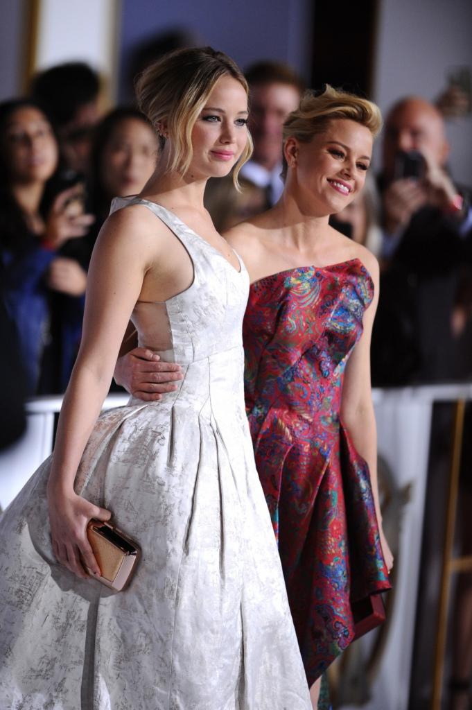 The Hunger Games Mockingjay Part 1 LA Premiere Jennifer Lawrence Elizabeth Banks