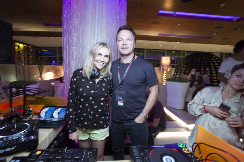 Becky and Pete Tong