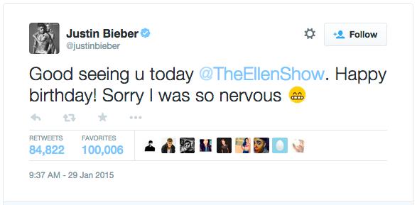 Source: Justin Bieber's Twitter