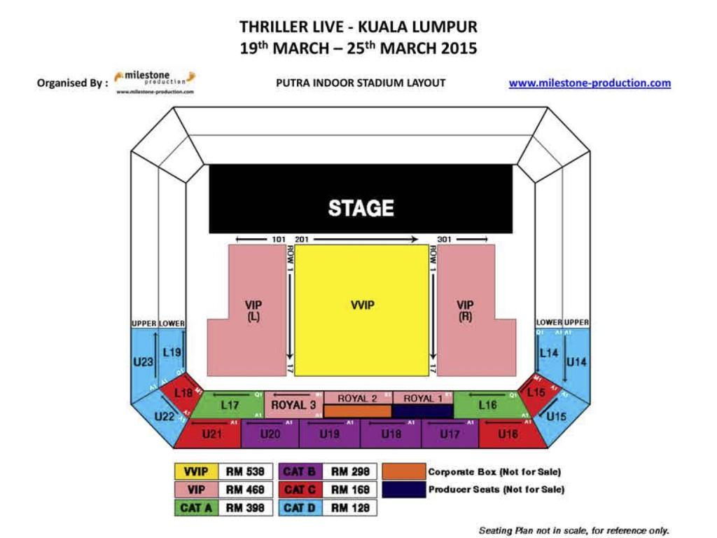 Thriller Live Malaysia Seating Plan