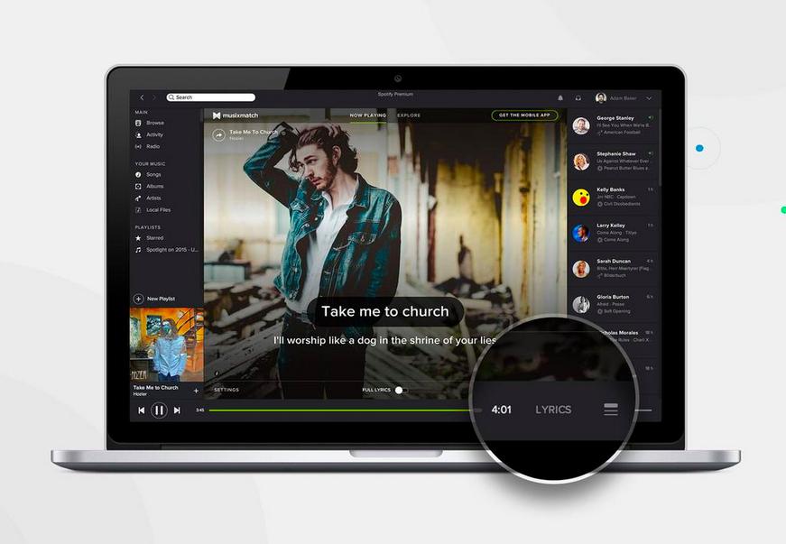 Spotify Musixmatch