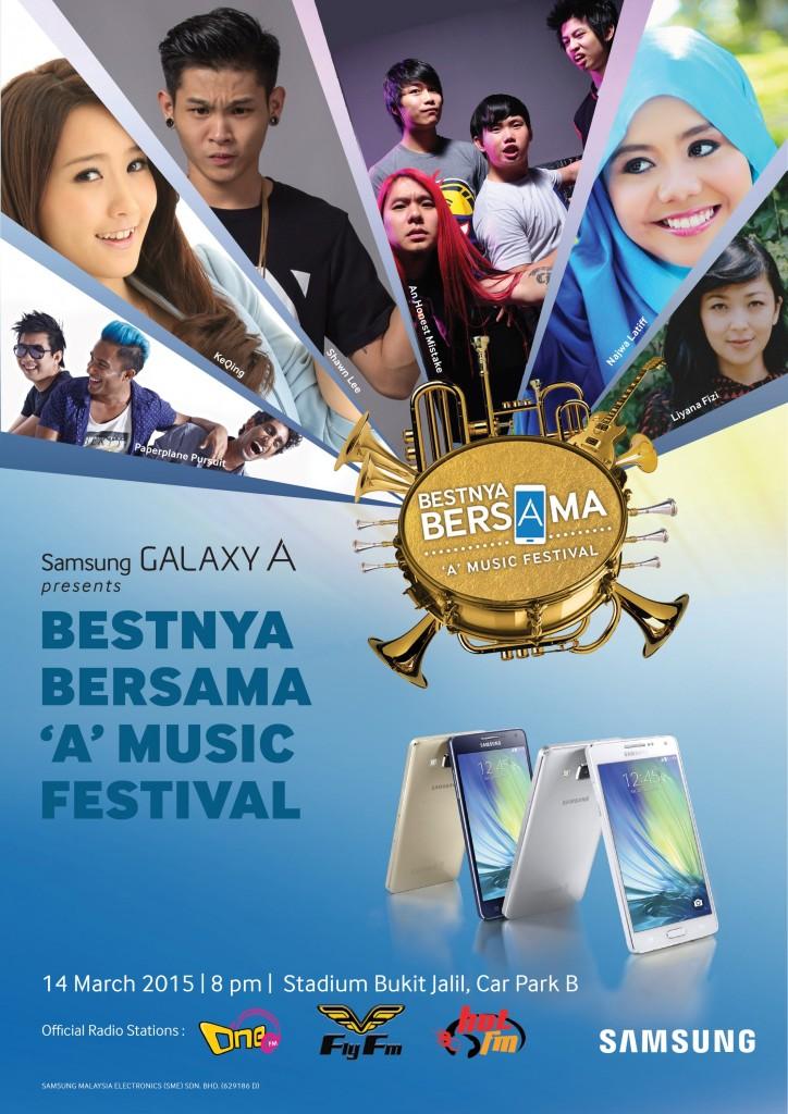 Bestnya Bersama _A_ Music Festival - Poster