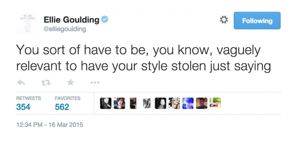 Ellie Goulding Tweets About Natalia Kills