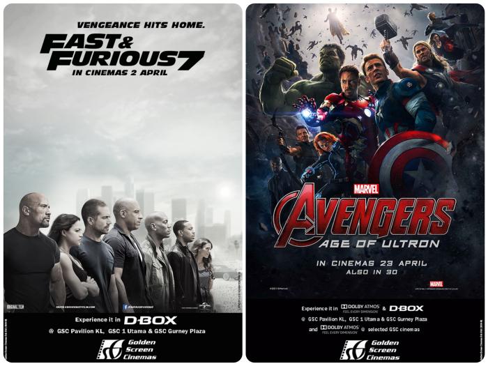 GSC Furious 7 Avengers Advance Tickets