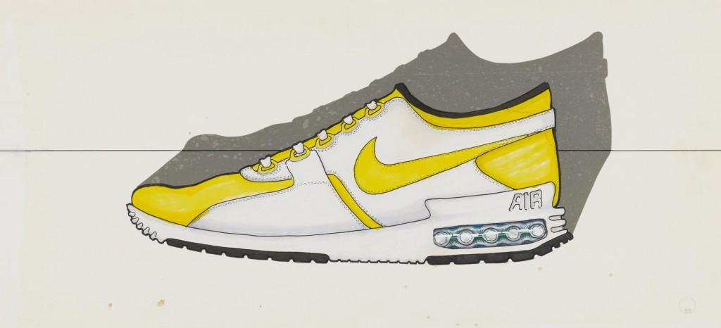 Lead designer Tinker Hatfield's original sketch of the Air Max Zero