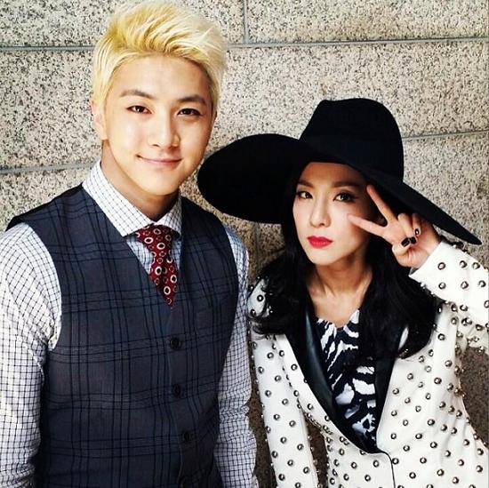 """Thunder"" aka Park Sang Hyun with his sister, Sandara Park of 2NE1"