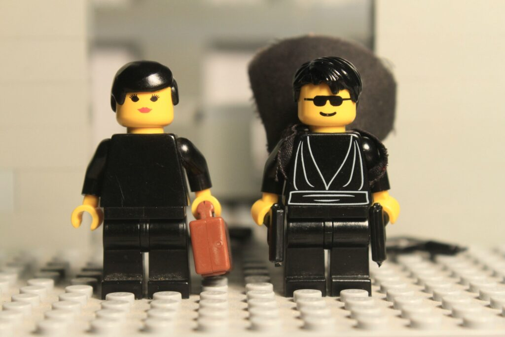 The Matrix Lobby Shootout Scene LEGO