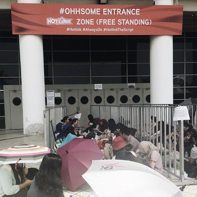 The Script Live In KL - Hotlink Zone Entrance