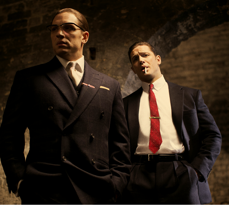 Tom Hardy as the Kray twins