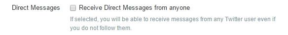 Twitter Update Direct Message