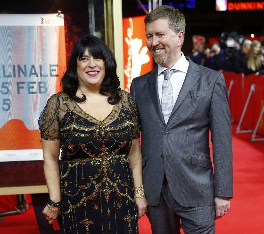 Author E. L. James and her husband Niall Leonard. Source: Newsweek