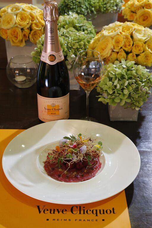 Veuve Clicquot Rose + Lamb Carpaccio