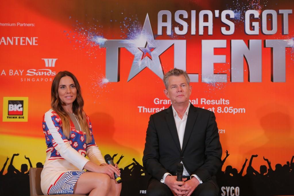 (L-R) Asia's Got Talent judges, Melanie C. and David Foster (3)