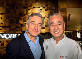 Robert de Niro & Chef Nobu Matsuhisa (Source: City of Dreams Manila Facebook page)