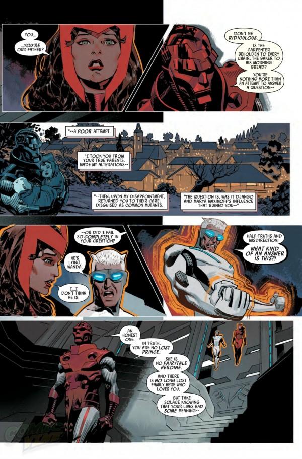 Uncanny Avengers - Scarlet Wtich and Quicksilver Parents