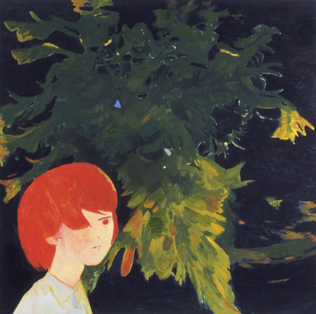 Japan Foundation 'might fly at night' by Makiko Kudo (2007). Oil on canvas. 117.0x117.0cm. © Makiko Kudo. Courtesy of Tomio Koyama Gallery.