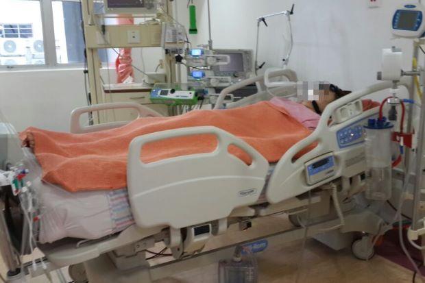 Nomin Erdene aka Luna recovering in the hospital (Source: The Star Online)