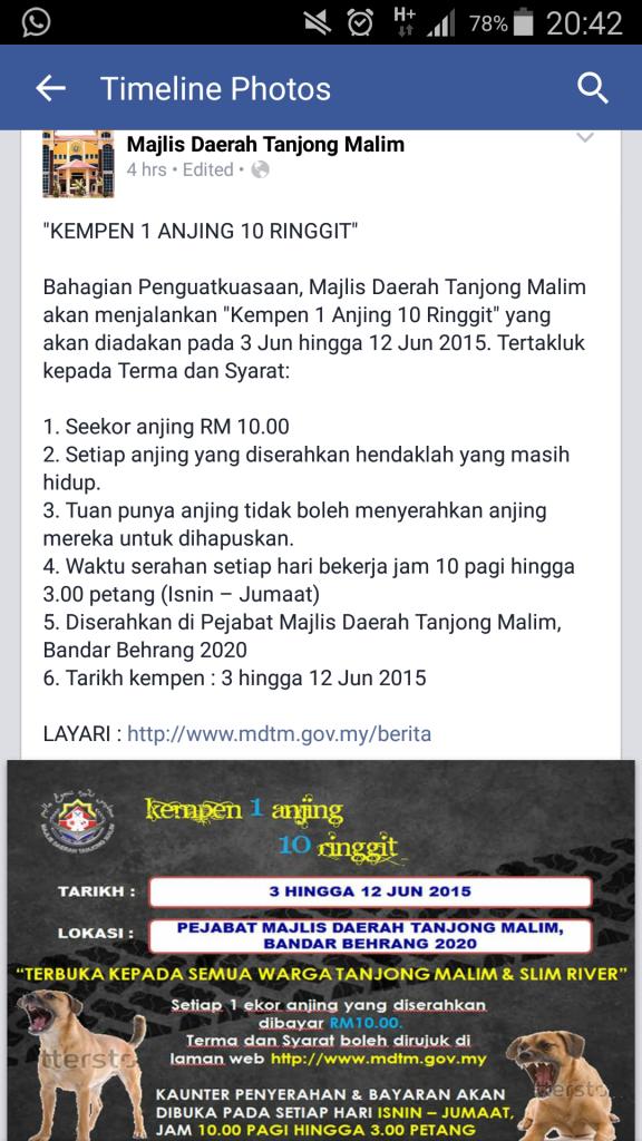 One Dog 10 Ringgit Majlis Daerah Tanjong Malim