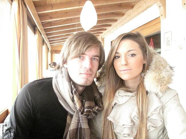 YouTube couple: PewDiePie & his girlfriend CutiePie (real name Marzia Bisognin)