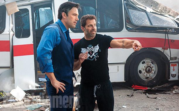 Batman v Superman - Ben Affleck and Zack Snyder