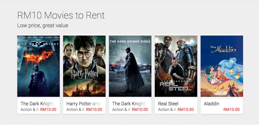 Google Play Movies Malaysia