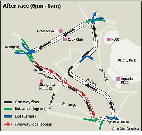 KL City Grand Prix Circuit After Race