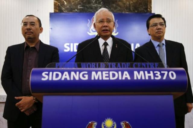Prime Minister Datuk Seri Najib Razak MH370 Debris