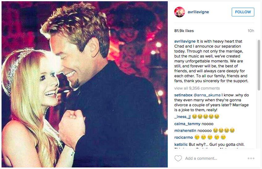Source: Avril Lavigne's Instagram