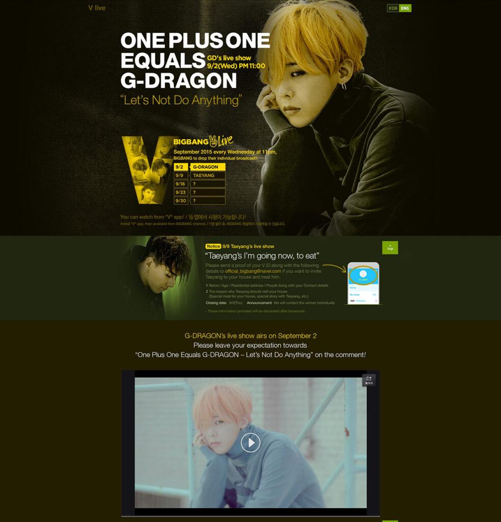 Naver V_Big Bang V LIVE