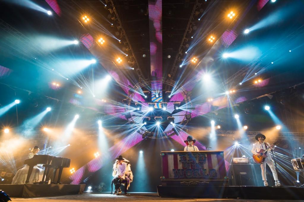 SEKAI NO OWARI performing at MTV World Stage Malaysia 2015 on 12 Sep (Credit - MTV Asia & Aloysius Lim)