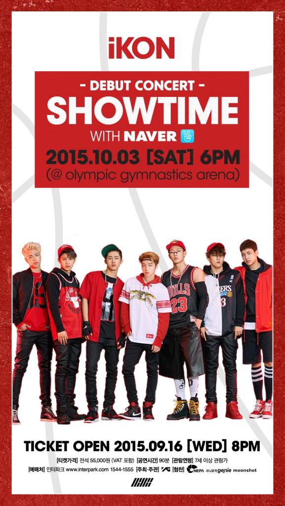 iKON Debut Concert Showtime 3rd October
