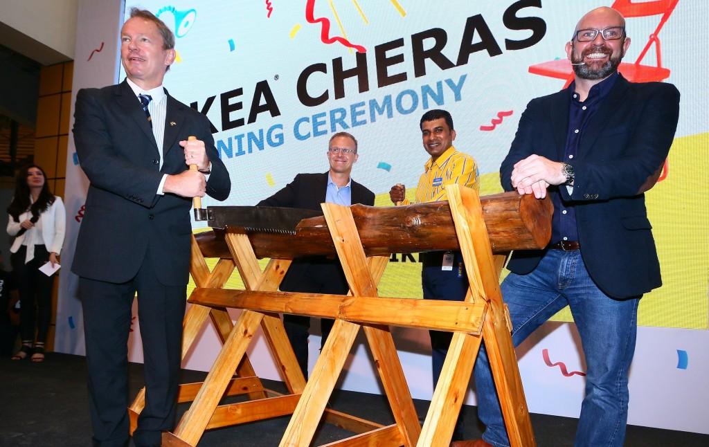 IKEA Cheras 05 - Log Sawing Ceremony