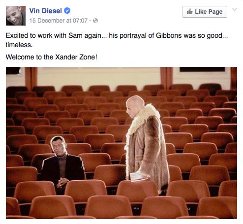 Vin Diesel xXx 3 Casting Announcement