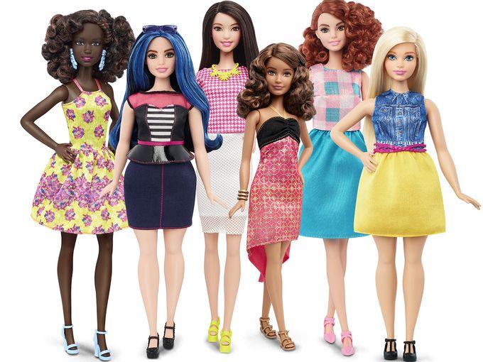 Barbie Shapes Sizes