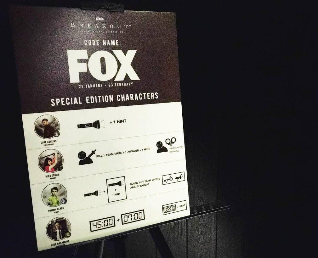 Breakout Nu Sentral FOX Themed Room
