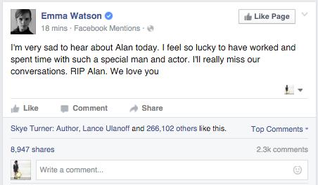 Emma Watson Alan Rickman