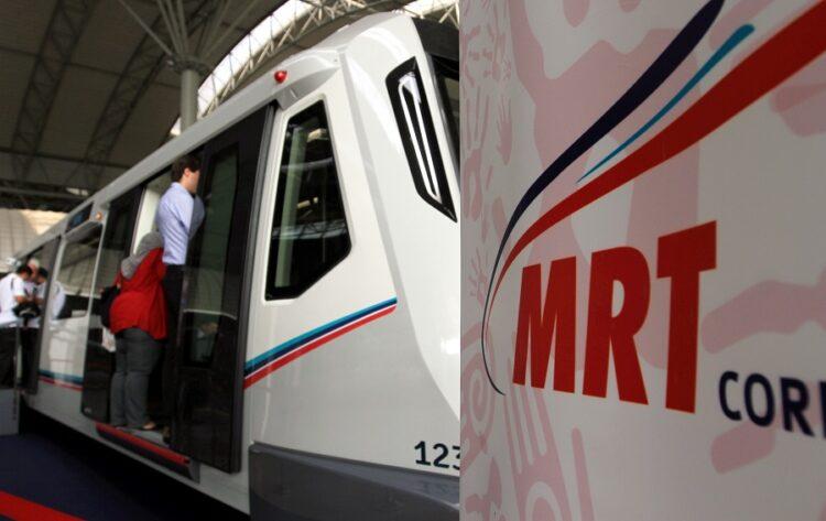 Media Tour of mock-up MRT train at KLIA Express Arrival Hall, KL Sentral ....