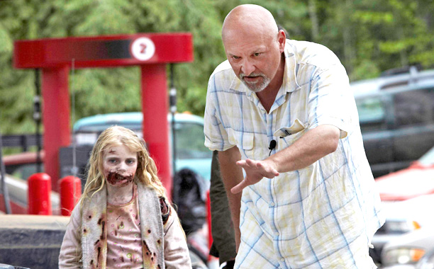 "Frank Darabont on the set of AMC's ""The Walking Dead"". (Source: ew.com)"