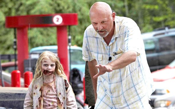 "Frank Darabont on the set of AMC's ""The Walking Dead"". (Source: ew.com)"