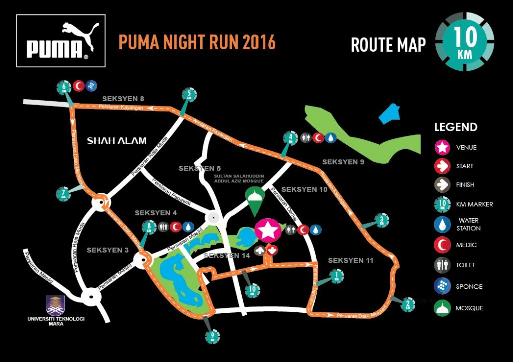 PUMA MY Route 10KM