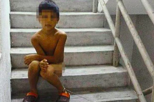(UPDATE) #Penang: Boy Stripped & Chained To Staircase By